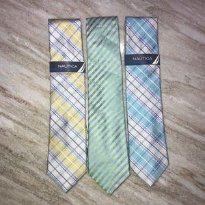 Nautica - 3pc Silk Tie Bundle - NEW
